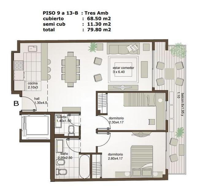departamento en venta  - villa urquiza - 3 ambientes - a estrenar