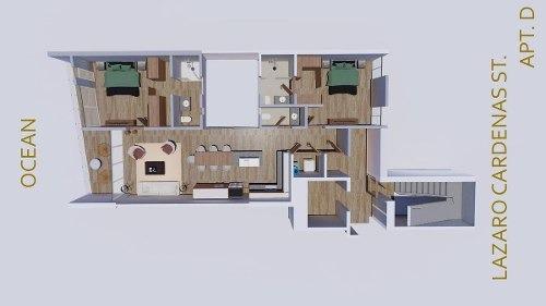 departamento en zona dorada, bucerias - the one bucerias 401