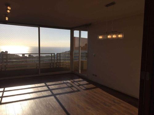 departamento exclusivo, amplio y con vista al mar en reñaca