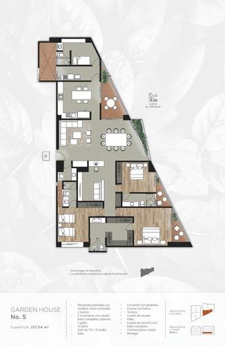 departamento garden house de 257.04 m² en preventa león, gto