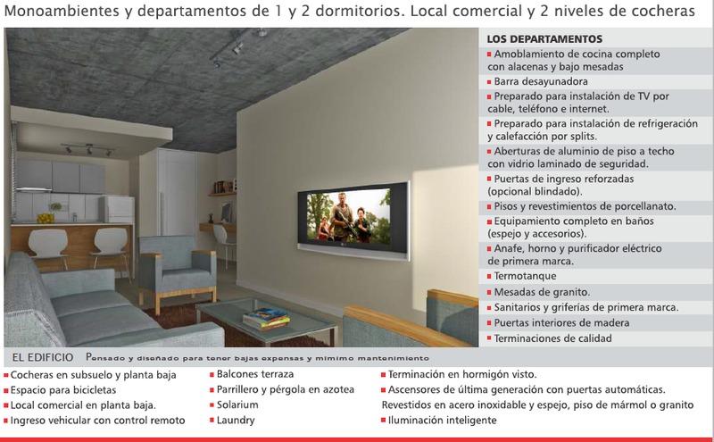 departamento monoambiente con cochera - zona medicina