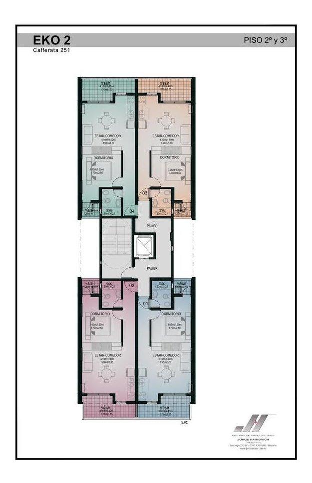 departamento monoambiente en edificio eko 2 cafferata al 200 - luis agote