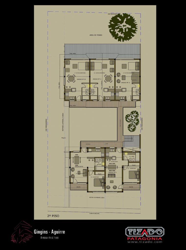 departamento monoambiente  en venta ubicado en centro, san martin de los andes