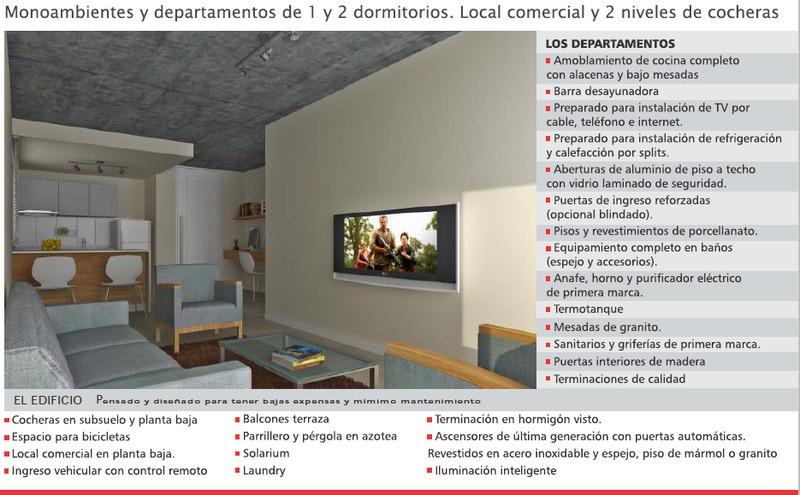 departamento monoambiente - zona medicina
