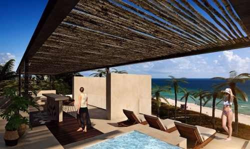departamento nuevo en la playa con amenidades, olá, teclhac, yucatán