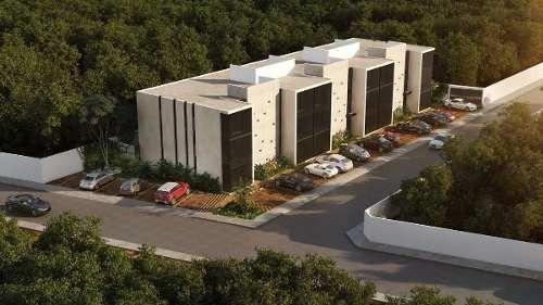 departamento nuevo en planta baja con alberca, tulia, montebello, mérida norte