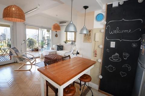 departamento - palermo - dos ambientes con increible vista abierta!