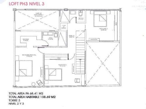 departamento pent house vista pedregal