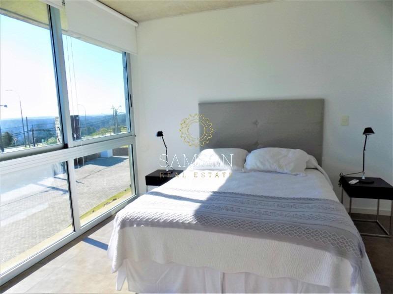 departamento penthouse 1 dormitorio, en alquiler, punta ballena, punta del este- ref: 103