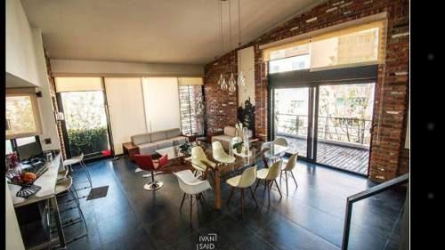 departamento penthouse tipo loft  en venta en lomas 4a seccion (amueblado)