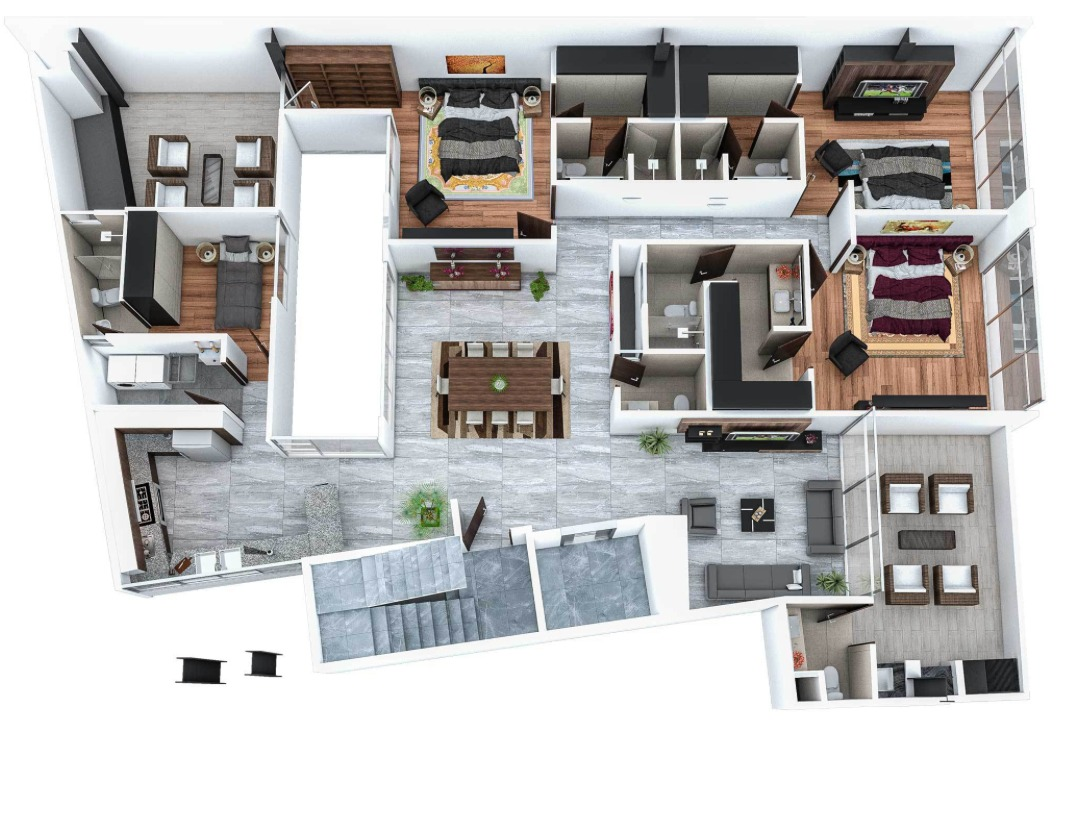 departamento ph en venta con 2 terrazas  zona sur