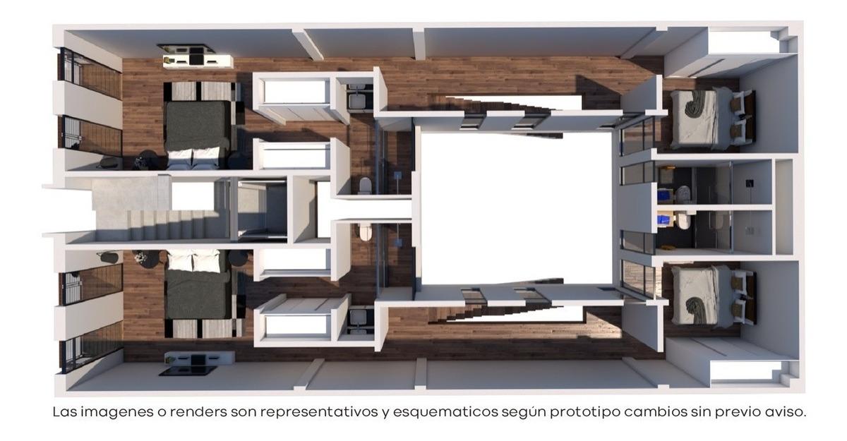 departamento ph2 en 2 niveles, en letrán valle  con balcón y roof garden privado