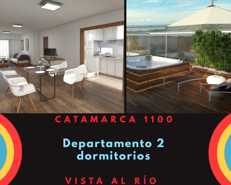 departamento piso exclusivo de 2 dormitorios - vista al rio - amenities