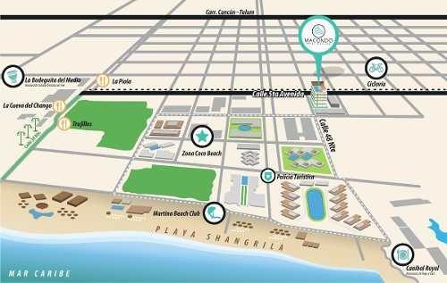 departamento playa del carmen amueblado nuevo lujo ubicado