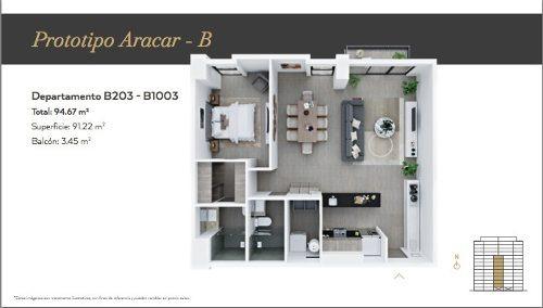 departamento pre venta la loma residences arakar-b 403