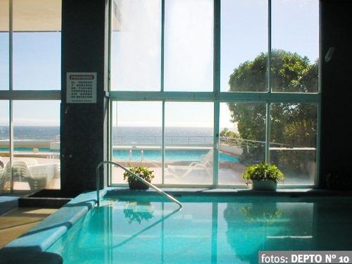 departamento reñaca (cochoa), vista mar en 1ª línea, piscina