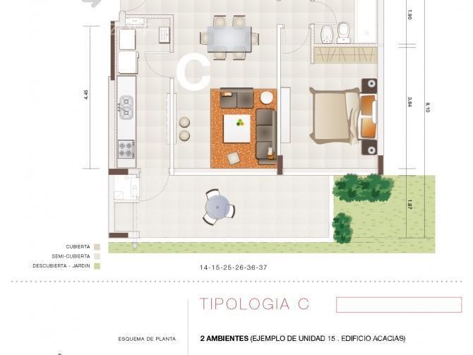 departamento rodeado de áreas verdes, pileta, y mucha luz