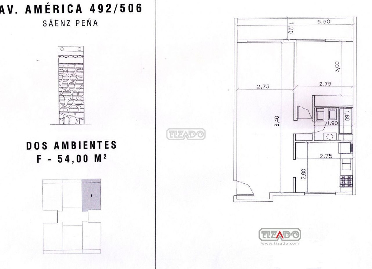departamento semipiso  en venta ubicado en sáenz peña, zona oeste