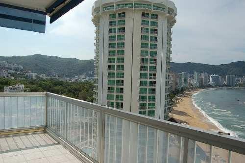 departamento sobre playa con alberca y vista al mar 1178