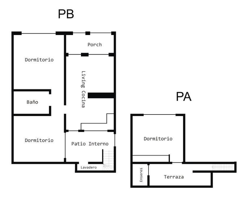departamento tipo casa 3 amb