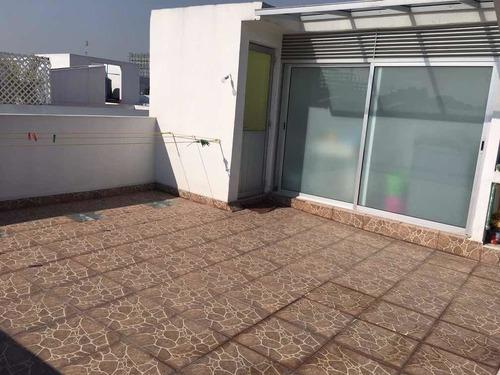 departamento tipo town house, narvarte, con roof privado