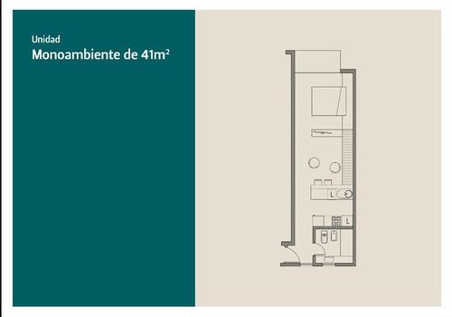 departamento un ambiente amplio 41m2 venta en pozo en güemes