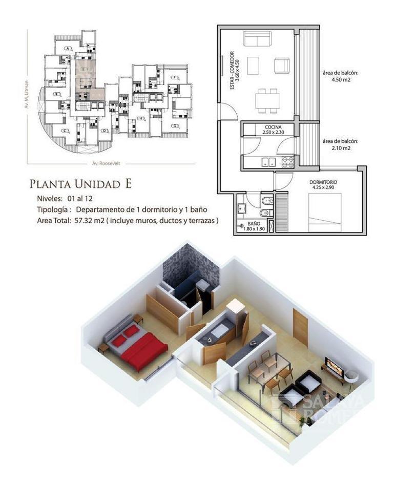 departamento - un dormitorio - punta del este ref sap2586753