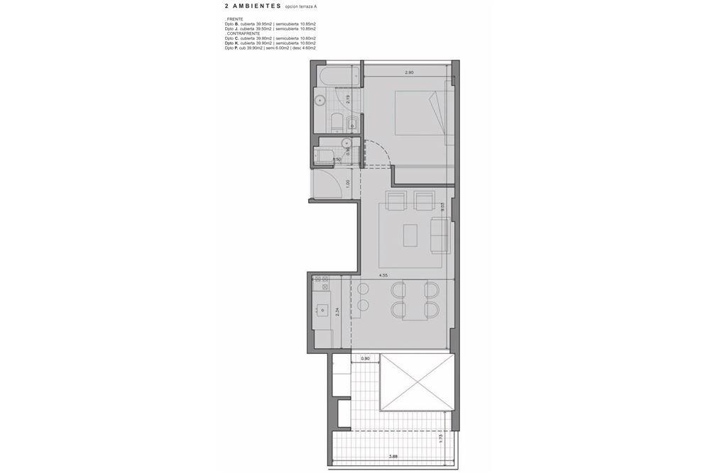 departamento venta 2 amb+suite+parrilla v. urquiza