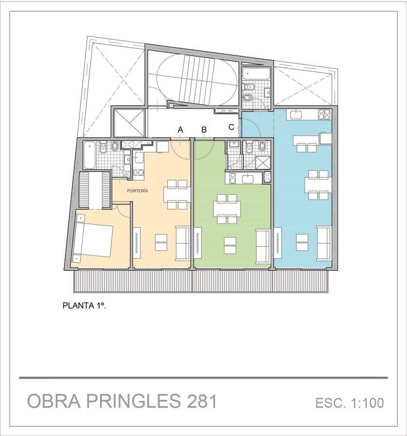 departamento - venta - 2 ambientes -almagro- emprendimiento