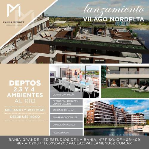 departamento - venta- 4 ambientes- vilago  - puerto escondido - nordelta - tigre