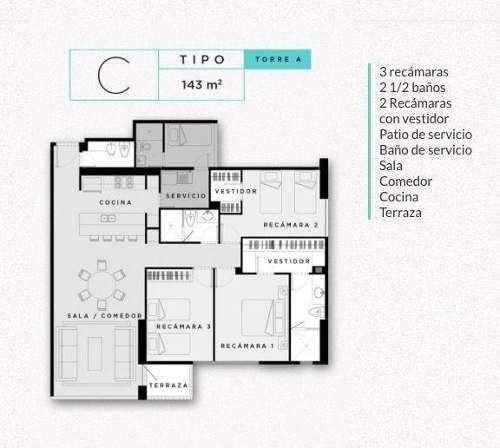 departamento venta / terrace / jesus del monte / interlomas