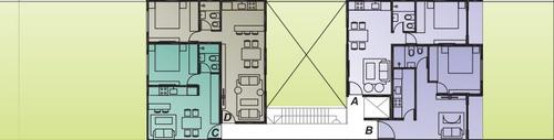 departamentos 2 ambientes a estrenar 100m2 en planta baja