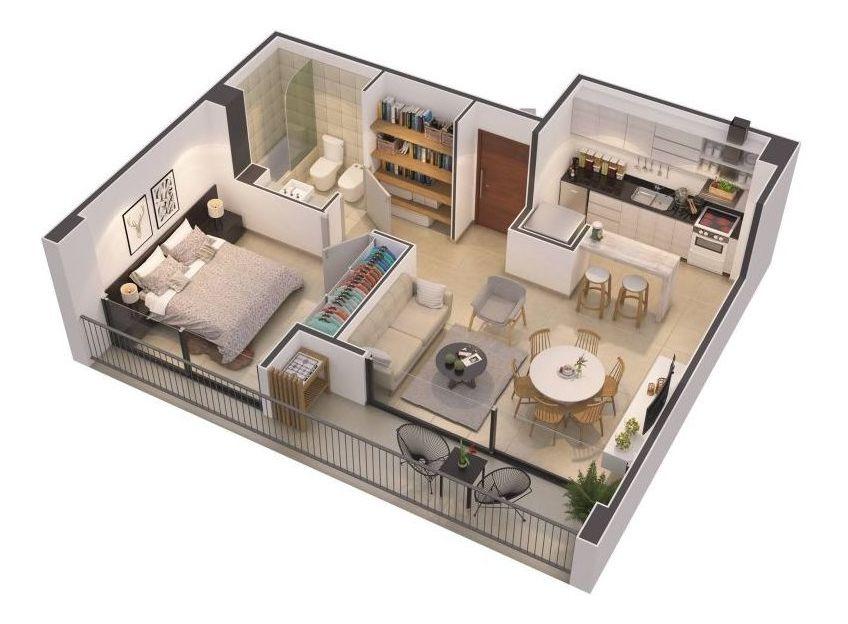 departamentos 2 ambientes en pozo, con financiación
