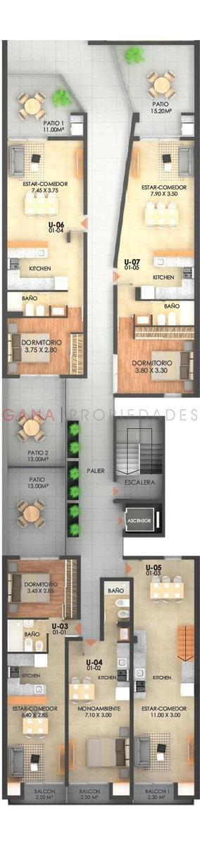 departamentos 2 dormitorios rioja 3154