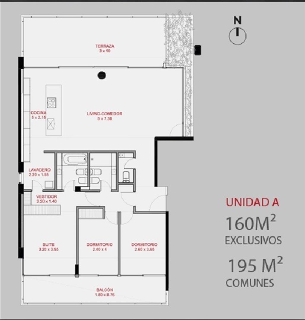 departamentos 3 dormitorios olive 954 -  rio arriba