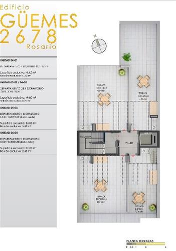 departamentos de 1 dormitorio terraza con parrillero