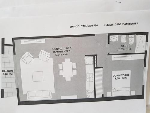 departamentos de 1 y 2 ambientes a estrenar frente a la estacion el palomar! financiados! f: 7581