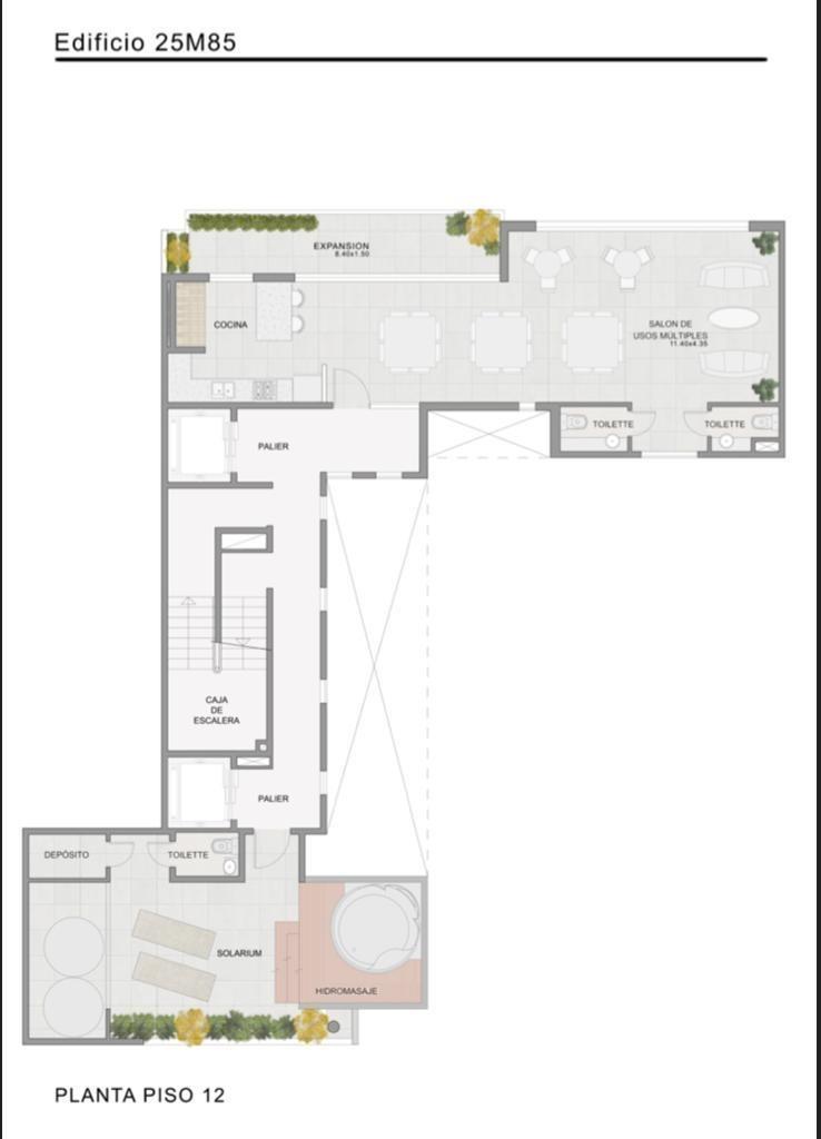 departamentos de pozo 3 ambientes