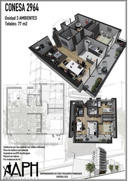 departamentos de pozo - edificio de categoría - cocheras - 2, 3, 4 ambientes - entrega 2022