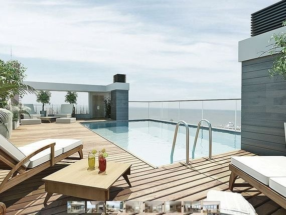 departamentos de tres y cuatro ambientes con vista al mar