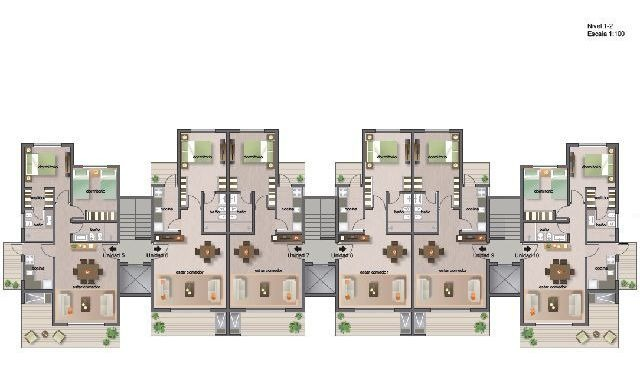 departamentos en alquiler 1 dormitorios  pinares punta del este - dl1059