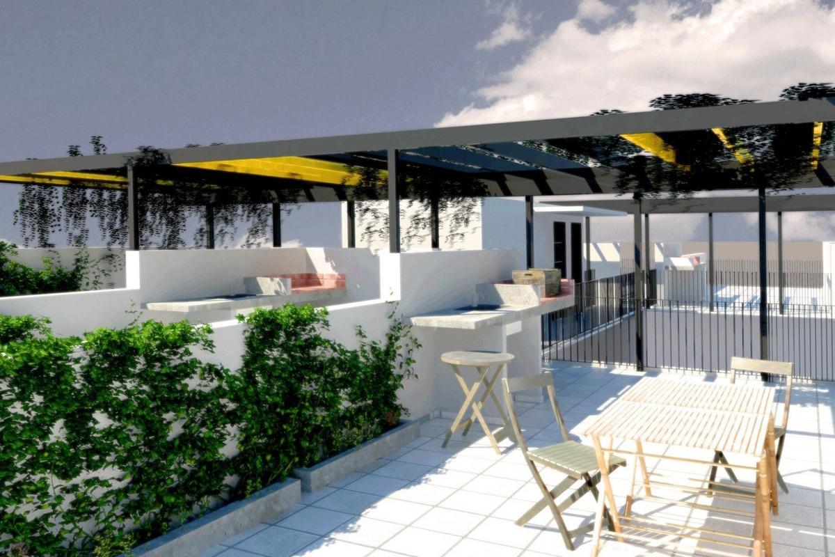 departamentos en barrio pichincha 1 dormitorio - unidades con terraza exclusiva y parrillero