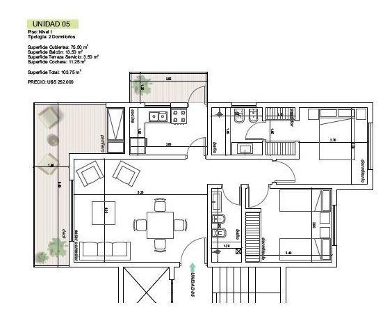 departamentos en venta 2 dormitorios  pinares punta del este - dl1058