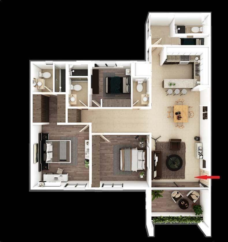 departamentos en venta en la torre eucaliptos, tipo a 3 recs, 2.5 baños 163m2