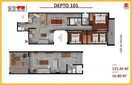 departamentos en venta y  pent house de 3 recámaras álamos