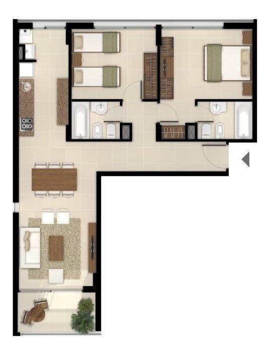 departamentos fundar a estrenar de 1 dormitorio - calidad constructiva premium real