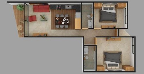 departamentos montecristo desde 70 a 90 m2 de 1 a 2 recamaras mérida