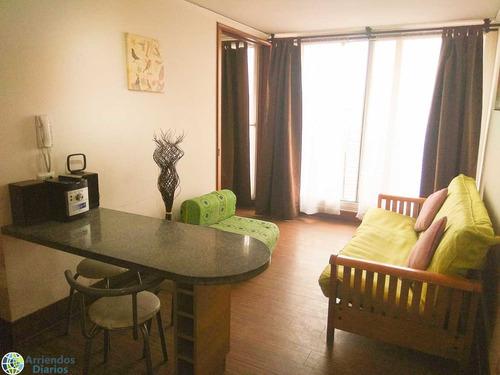 departamentos por días en  santiago centro. 1 dormitorio eje