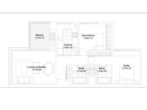 departamentos venta de pozo 3 ambientes