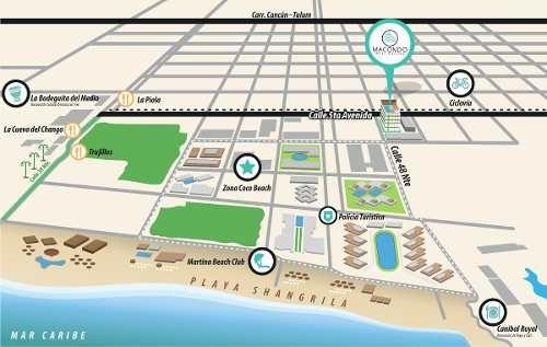 departemento playa del carmen amueblado nuevo lujo 5ta av